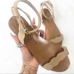 Sole Society Odette Scalloped Ankle Strap Sandal 9